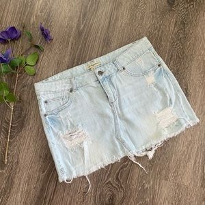Heritage 1981 Distressed Denim Mini Skirt